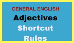 Adjectives Examples with Rules