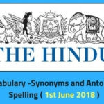 Daily English Words - THE HINDU- Editorial Vocabulary-16th
