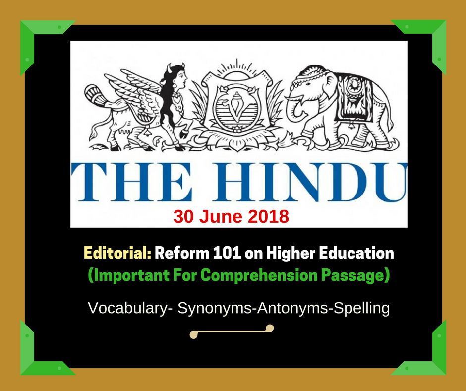 Today-The Hindu-Editorial-Vocabulary-Collection-30 -June 2018-image